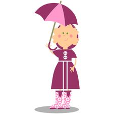 Free Girl Walking With Umbrella 17 Royalty Free Stock Photo - 15253225