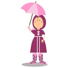 Free Girl Walking With Umbrella 19 Royalty Free Stock Images - 15253229