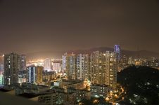 Free Modern Cityscape By Night Royalty Free Stock Image - 15253296