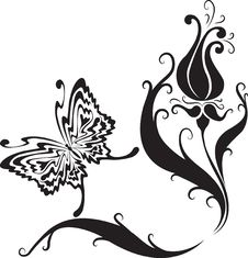 Free Butterfly And Flowers Royalty Free Stock Photography - 15253427