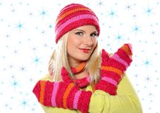 Free Pretty Woman In Hat And Gloves Royalty Free Stock Photo - 15253955