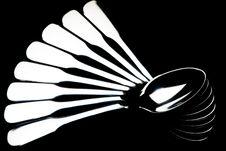 Free Teaspoons Arranged In Fan Shape Royalty Free Stock Photos - 15254018