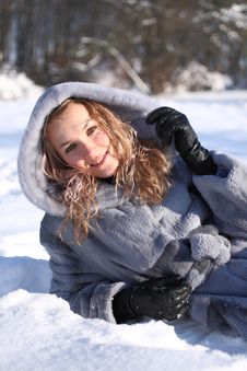 Free Woman And Snow Stock Images - 15254384