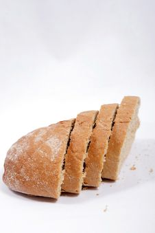 Free Bread Isolated On White Royalty Free Stock Photo - 15254775