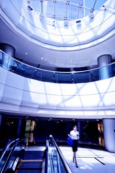 Free Interior Of Modern Building Stock Image - 15254781