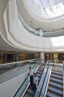 Free Interior Of Modern Building Royalty Free Stock Photography - 15254797