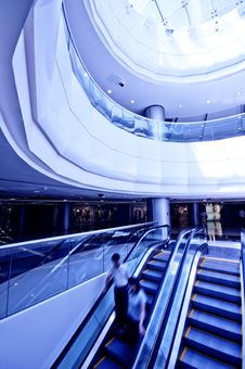 Free Interior Of Modern Building Stock Image - 15254811