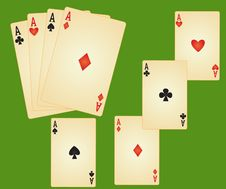 Free Four Aces. Stock Image - 15254951