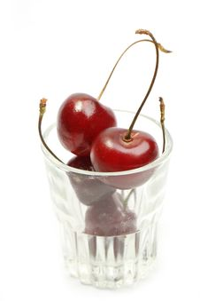 Free Sweet Cherry In A Glass Stock Photo - 15255250