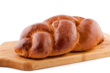 Free Bread Roll On White. Stock Photo - 15255300