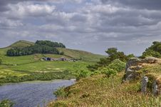 Hadrian S Wall And Crag Lough Royalty Free Stock Photography