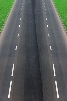Road  Asphalted  Highway Royalty Free Stock Photography