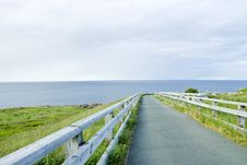Free Foot Path At Cape Spear Newfoundland Stock Photography - 15256432