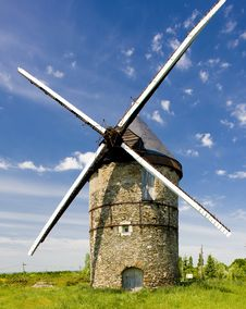 Free Windmill In France Royalty Free Stock Image - 15256476