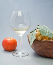 Free Still-life With Fruit And Wine Glass Stock Image - 15256531