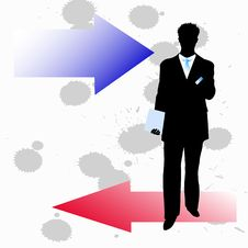 Free Silhouette Of Businessmen Royalty Free Stock Photography - 15257297