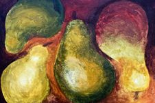 Free Painting Of Pears Royalty Free Stock Photography - 15257717