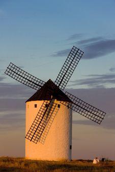 Windmill, Campo De Criptana Stock Photos
