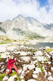 Free Woman Backpacker In High Tatras Royalty Free Stock Photography - 15258057