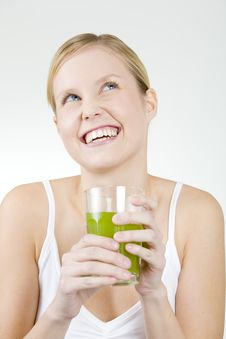 Free Woman With A Glass Of Juice Royalty Free Stock Photos - 15258168