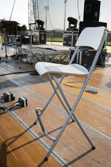 Free Chair On Stage Stock Photo - 15258580