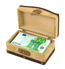 Money In Box Stock Photography