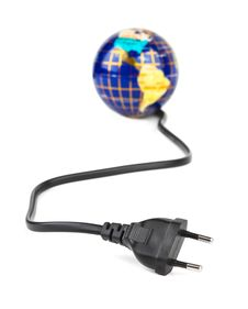 Free Globe And Electrical Cable Stock Photos - 15258833