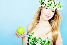 Free Girl With Apple Stock Photography - 15259632