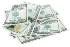 Free Money Dollars And Lock Stock Photography - 15259652
