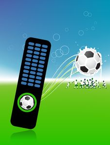 Football Players On Field, Soccer Ball Stock Images