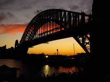 Free Harbour Bridge At Sunset Stock Photography - 15259862