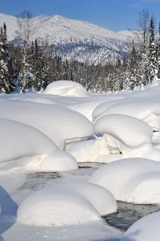 Free River Under Snow Stock Photo - 15259890