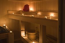 Free Interior View Of Sauna Bath Stock Image - 15260501