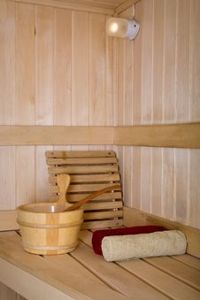 Free Interior View Of Sauna Bath Stock Image - 15260601