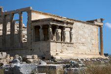 Free Tumbledown Temple At Acropolis Stock Photography - 15261562