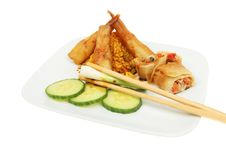 Free Chinese Snacks On A Plate Stock Photos - 15262153