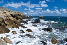 Free Beautiful Landscape Of Rocky Coastline Royalty Free Stock Image - 15262346