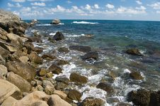 Free Beautiful Landscape Of Rocky Coastline Stock Photography - 15262422