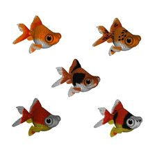 Free 3d Cartoon Goldfish Set 1 Royalty Free Stock Images - 15263189