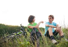 Relax Biking Royalty Free Stock Photos