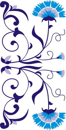 Free Gzhel Blue Ornament Royalty Free Stock Image - 15263616