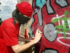 Free Graffity Painter Stock Photography - 15263702