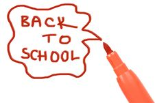 Free Marker Pen Writing -back To School Royalty Free Stock Photo - 15263915