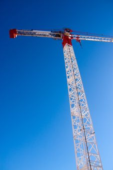 Free Tall White Tower Crane Royalty Free Stock Photography - 15264007