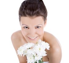 Free Sexy Woman With A White Flower. Stock Photography - 15264142