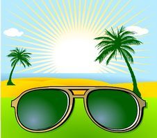 Free Holiday And Sunglasses Stock Image - 15264401