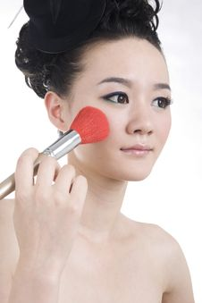 Beautiful Girl With Perfect Makeup Royalty Free Stock Photography