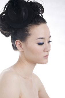 Beautiful Girl With Perfect Makeup Royalty Free Stock Image
