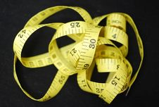 Yellow Measuring Tape Royalty Free Stock Photos