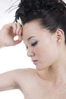 Beautiful Girl With Perfect Makeup Royalty Free Stock Photos